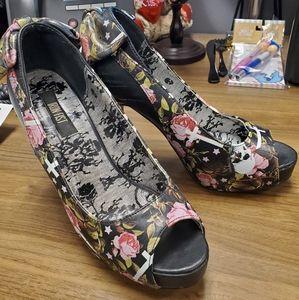 Iron Fist, Kill Me Later, peep toe heels, size 7